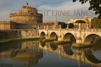 Castel St Angelo and River Tiber Central Rome (EAJ009110)
