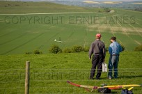 Flying model planes Ivinghoe Beacon Bucks (EAJ009929)