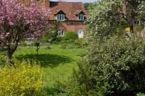 Cottages at Ringshall Hertfordshire UK in Early Ma (EAJ009945)