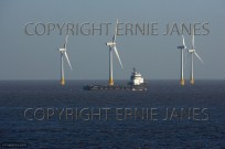 Offshore Wind Turbines on Scoby sands from Caister (EAJ010737)